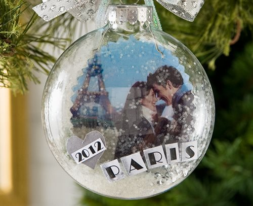 Photo Transfer Glass Ornament