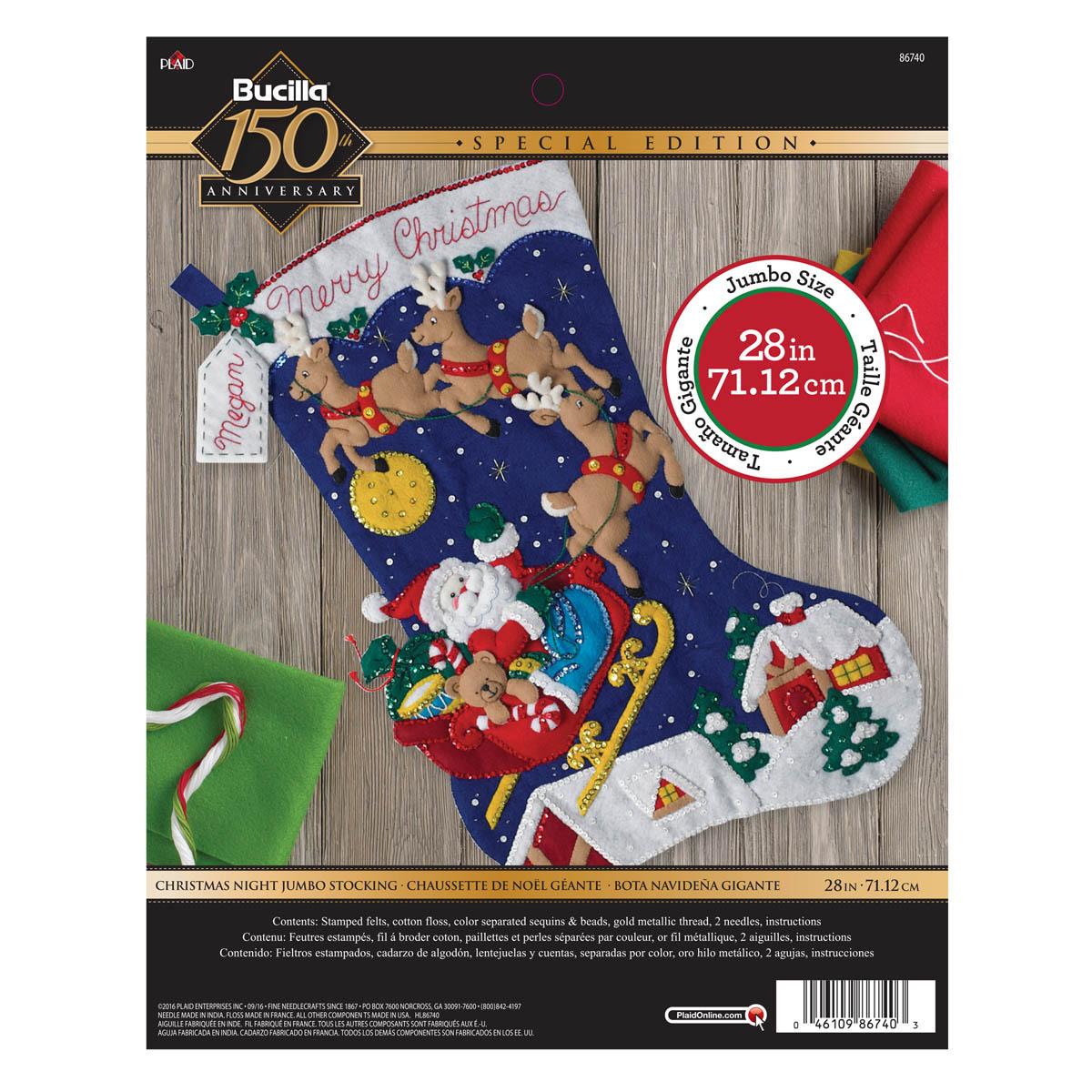 Bucilla ® Seasonal - Felt - Stocking Kits - Christmas Night Jumbo Stocking