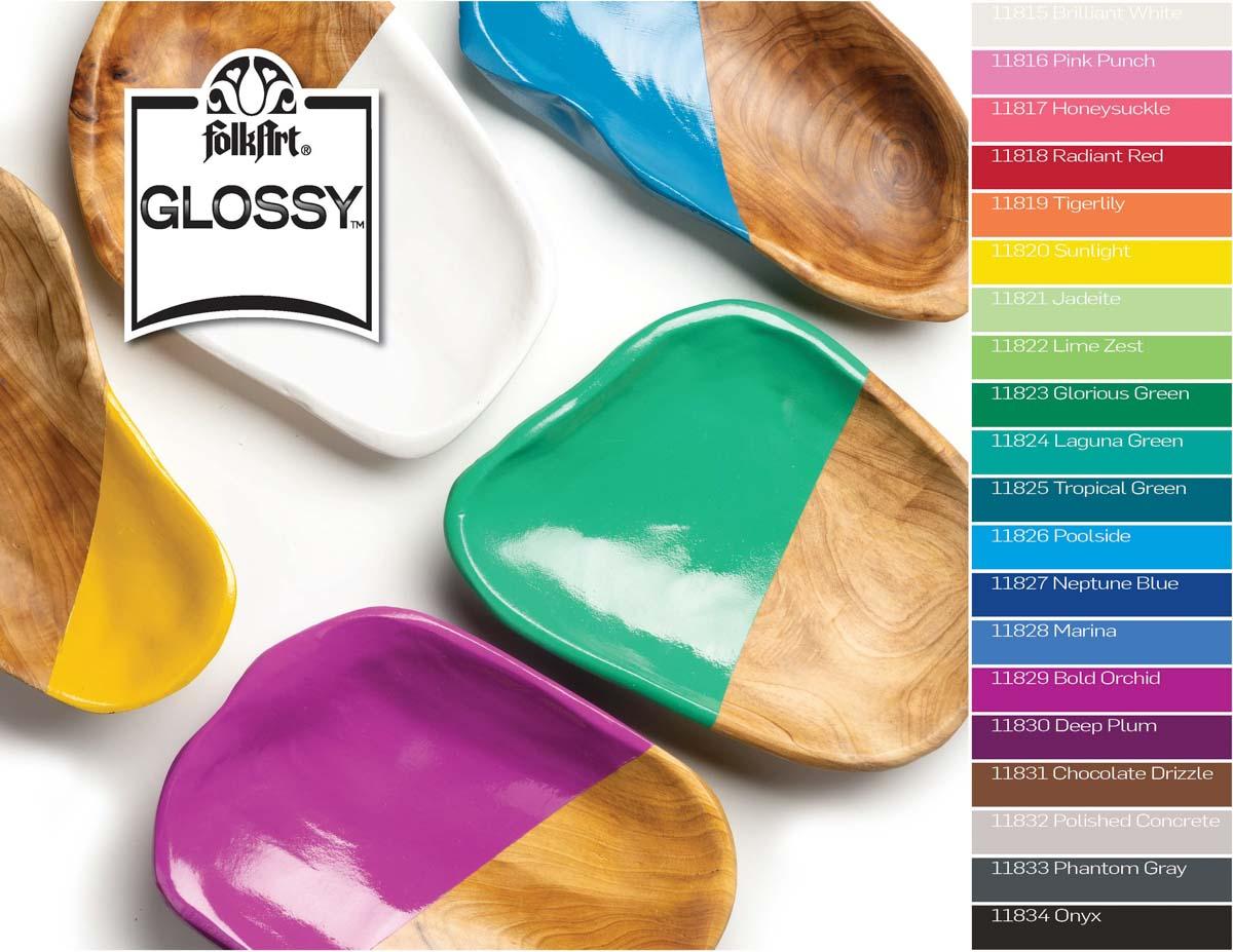 FolkArt Glossy Acrylic Paint - Jadeite, 2 oz. - 11821