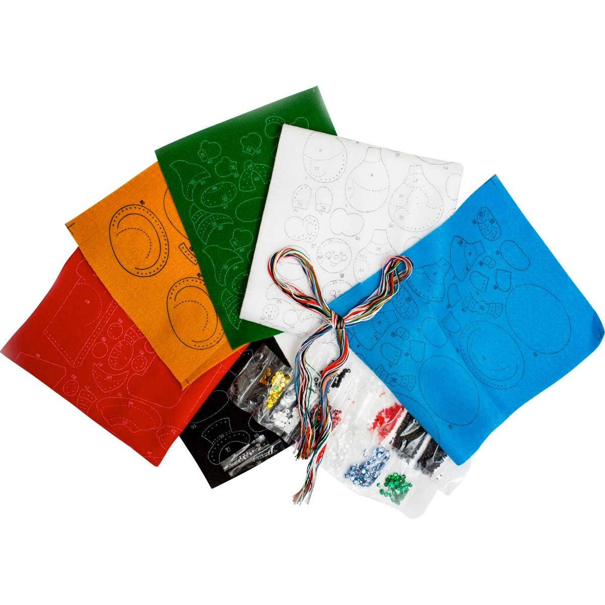 Bucilla ® Seasonal - Felt - Ornament Kits - Snow Day Fun Day