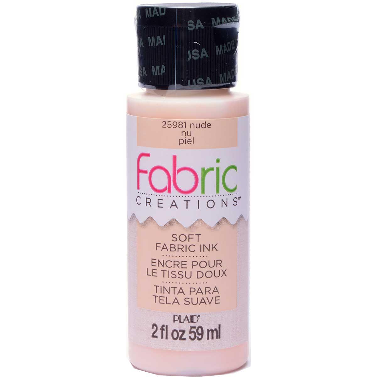 Fabric Creations™ Soft Fabric Inks - Nude, 2 oz. - 25981