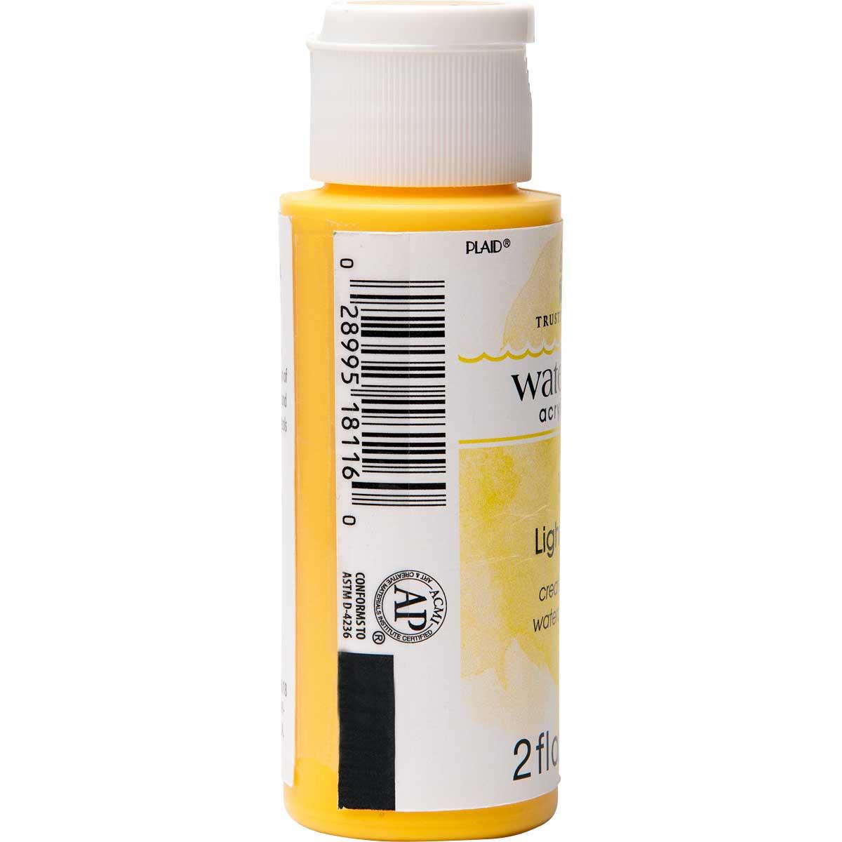 FolkArt ® Watercolor Acrylic Paint™ - Light Yellow, 2 oz.