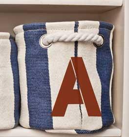 Bold Monogram Nautical Tote Bag