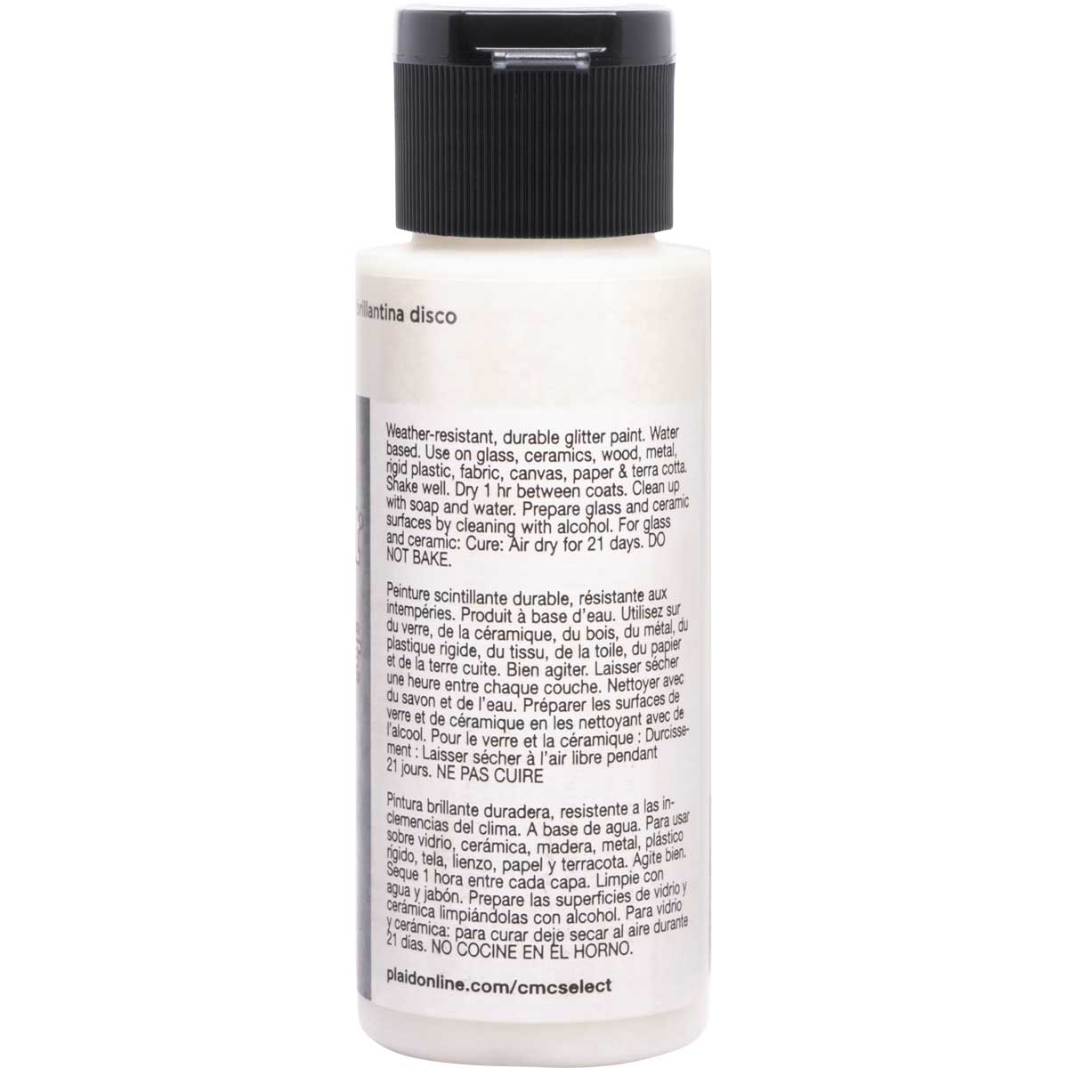 Delta Ceramcoat ® Select Multi-Surface Acrylic Paint - Glitter - Chunky Disco, 2 oz.