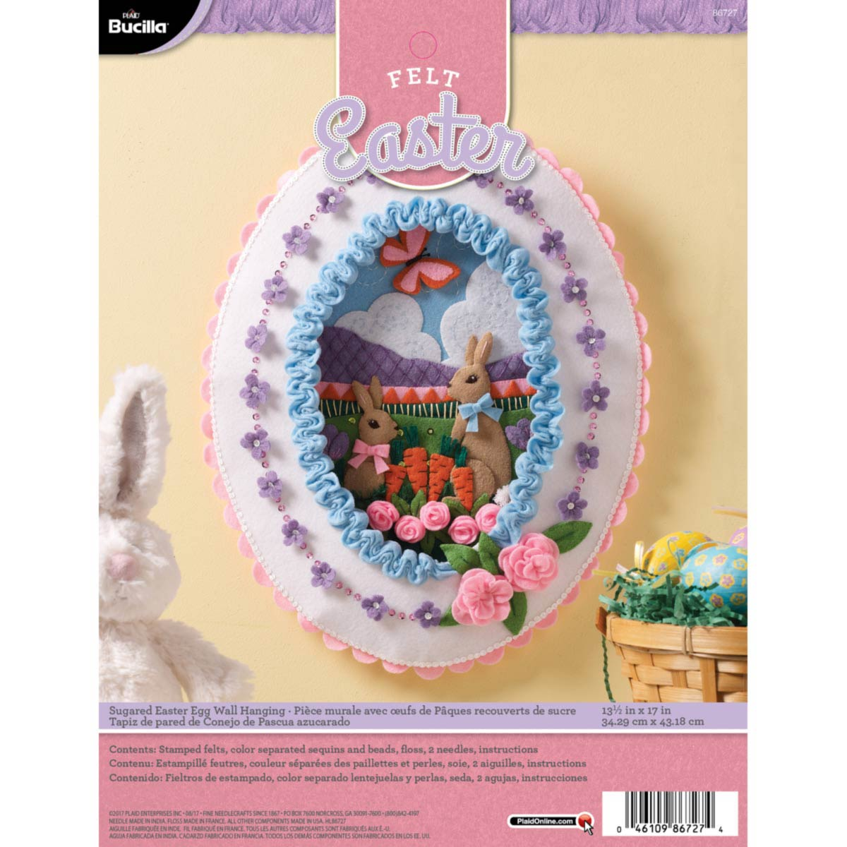 Bucilla ® Seasonal - Felt - Home Decor - Door/Wall Hanging Kits - Sugared Easter Egg