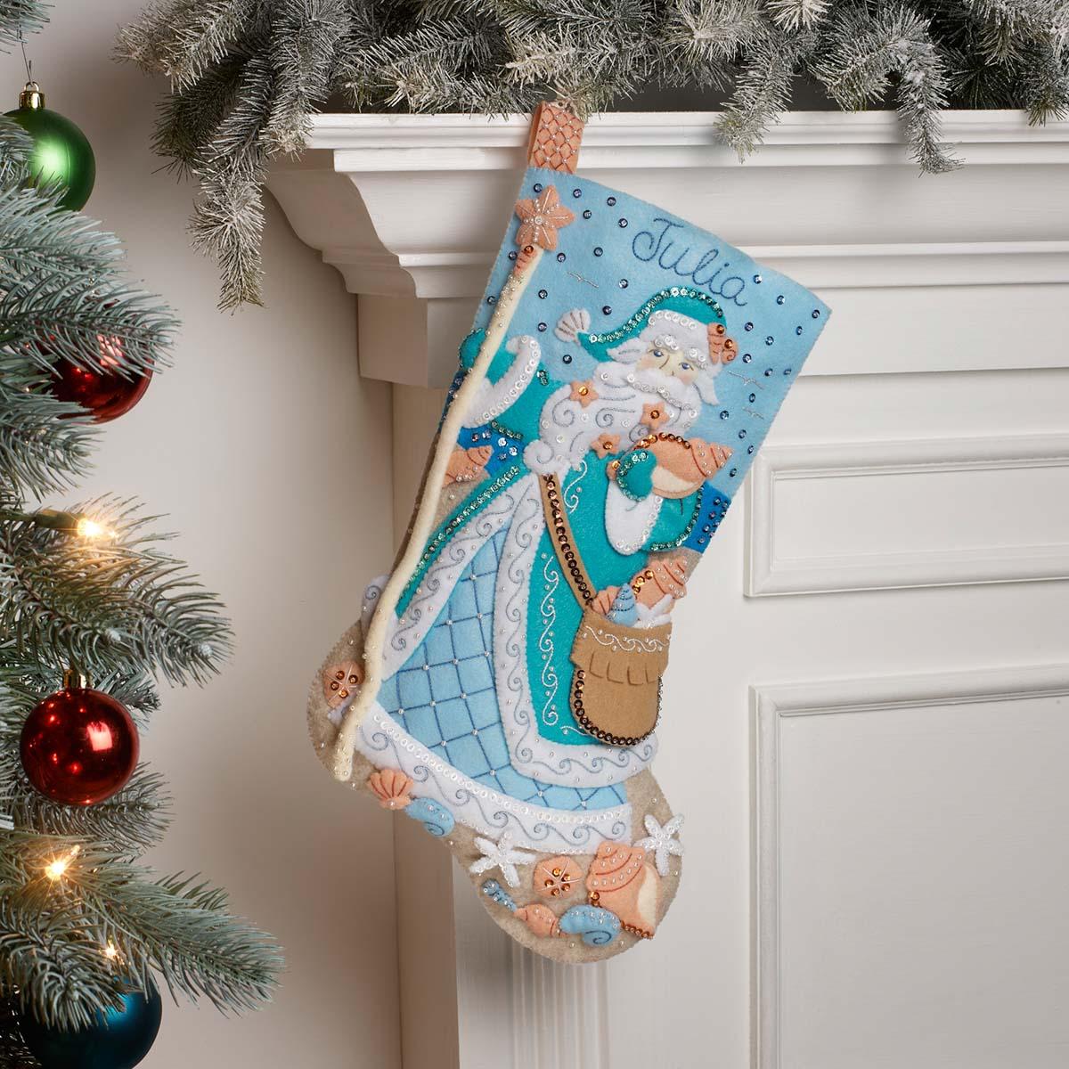 Bucilla ® Seasonal - Felt - Stocking Kits - Seashore Santa - 89323E