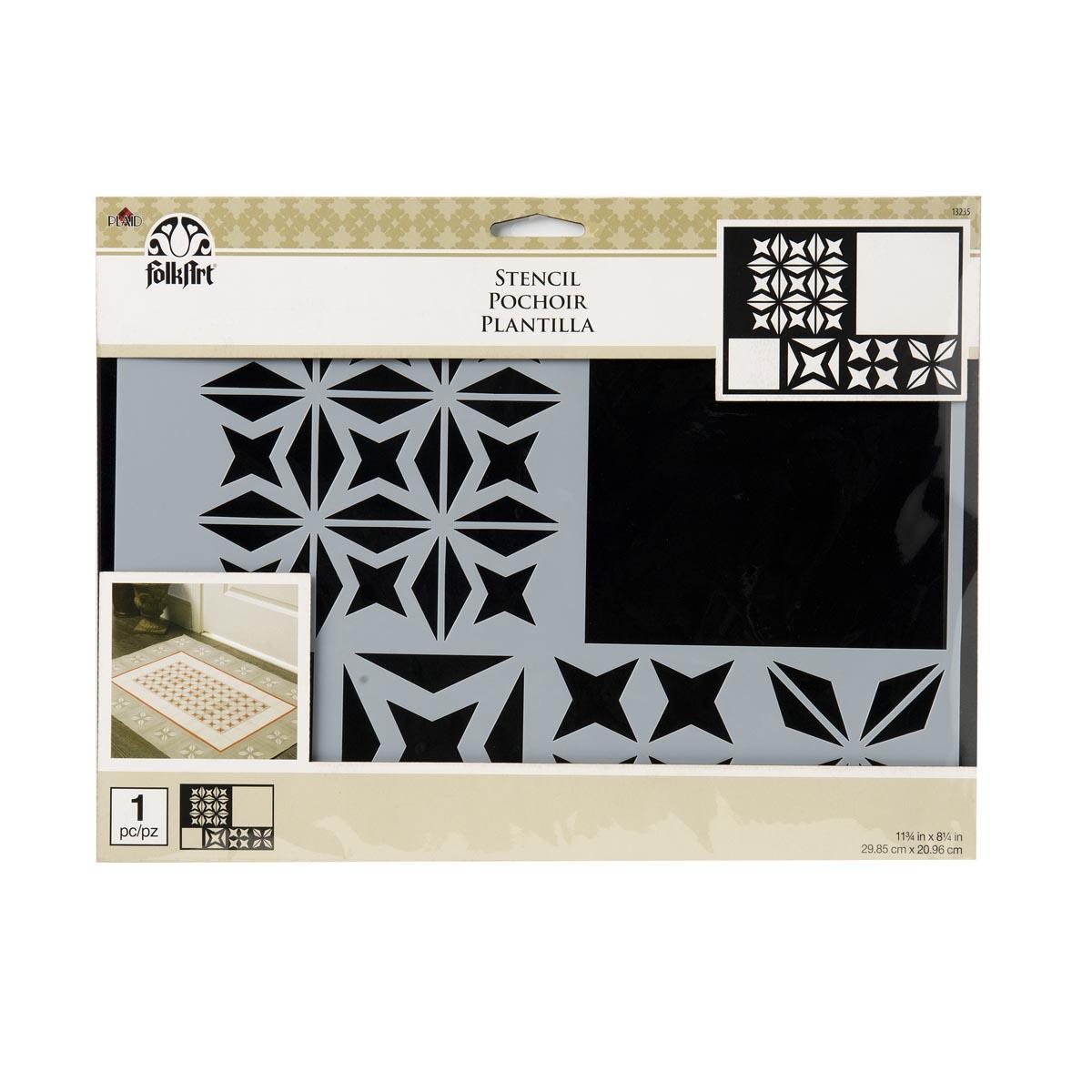 FolkArt ® Painting Stencils - Starburst Tile - 13235