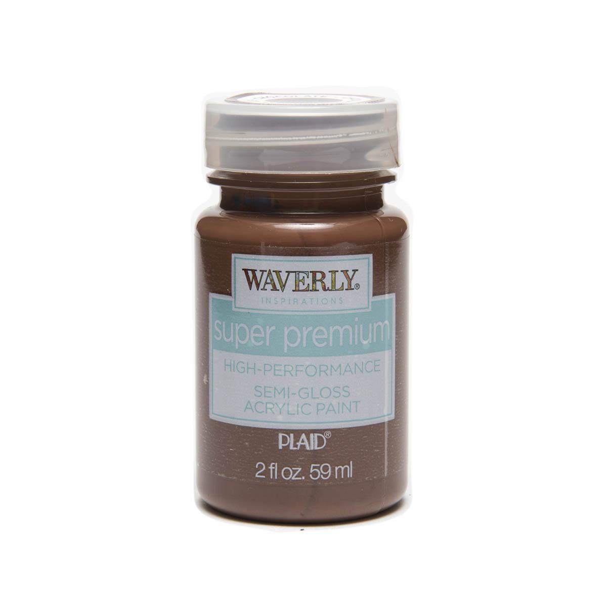 Waverly ® Inspirations Super Premium Semi-Gloss Acrylic Paint - Chocolate, 2 oz. - 60653E