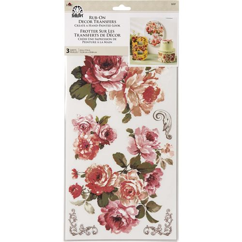 FolkArt ® Rub-On Décor Transfer - Floral, 3 pc. - 36107