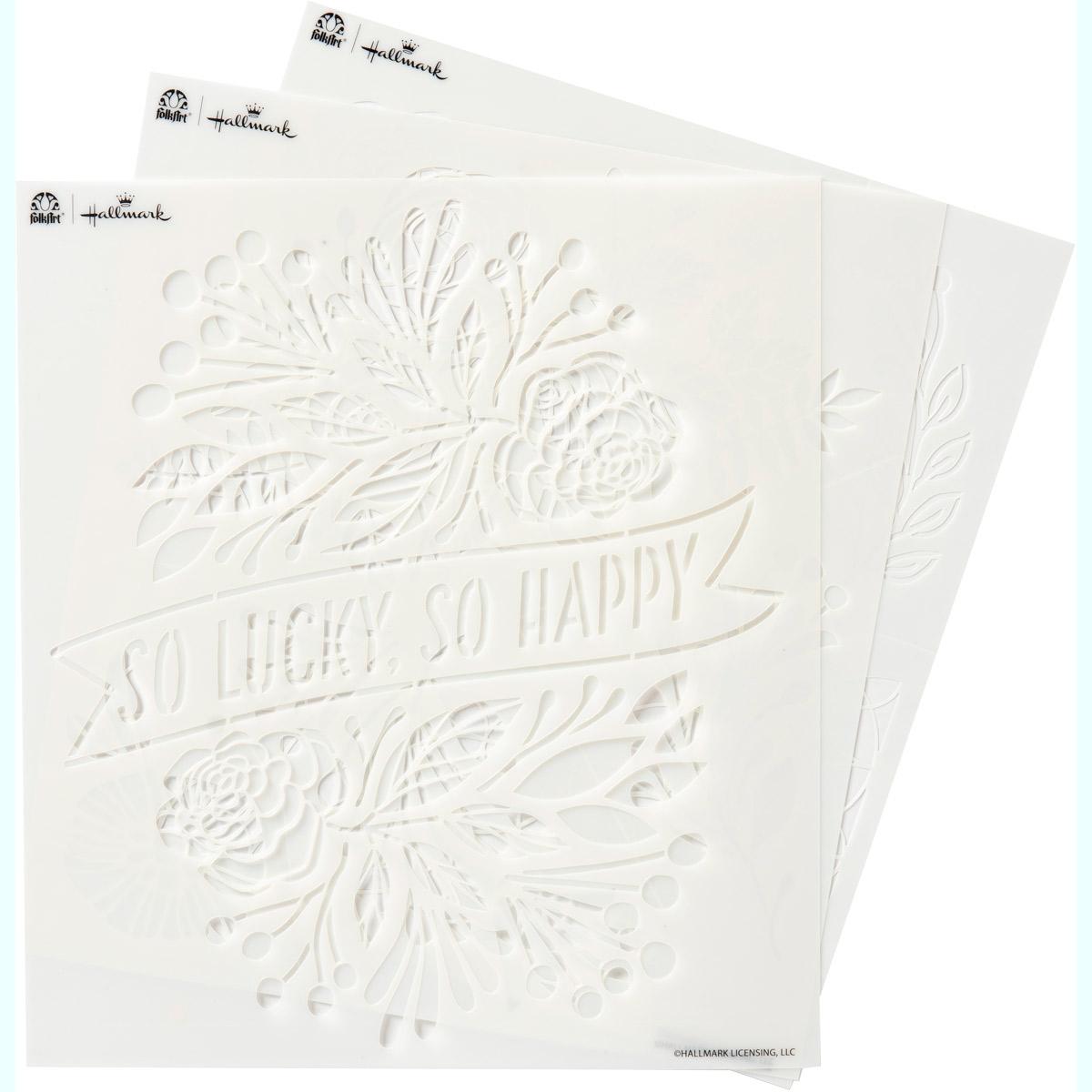 Hallmark Handcrafted Adhesive Stencils - So Happy Design Pack, 8-1/2