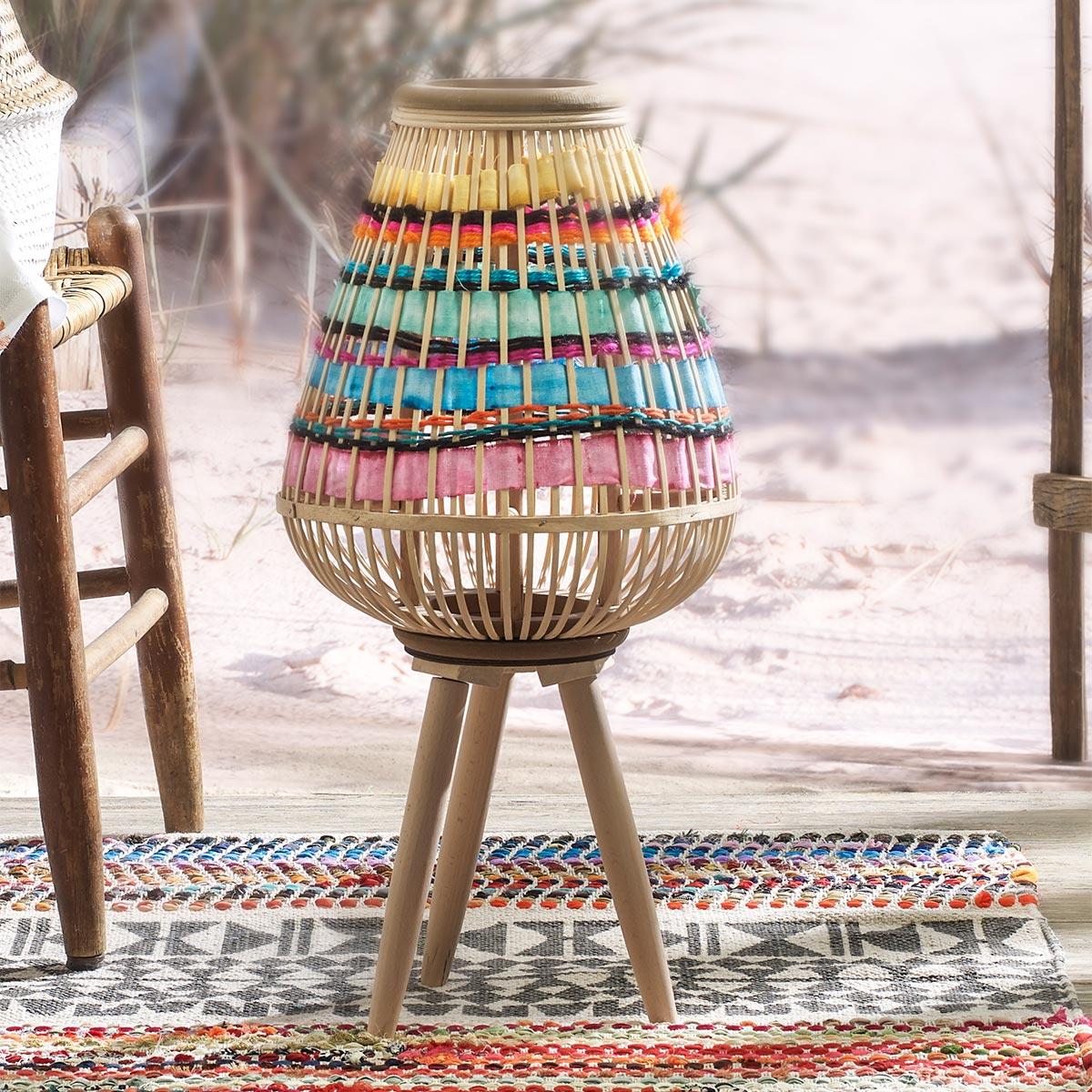BoHo Basket Lantern