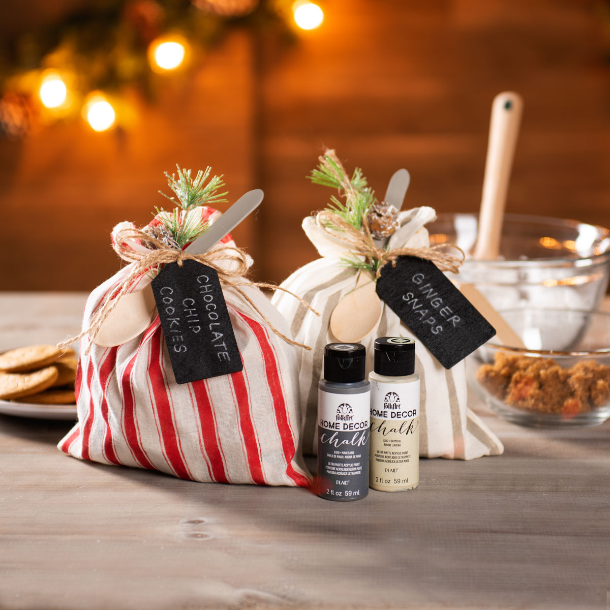Canvas Recipe Gift Bags