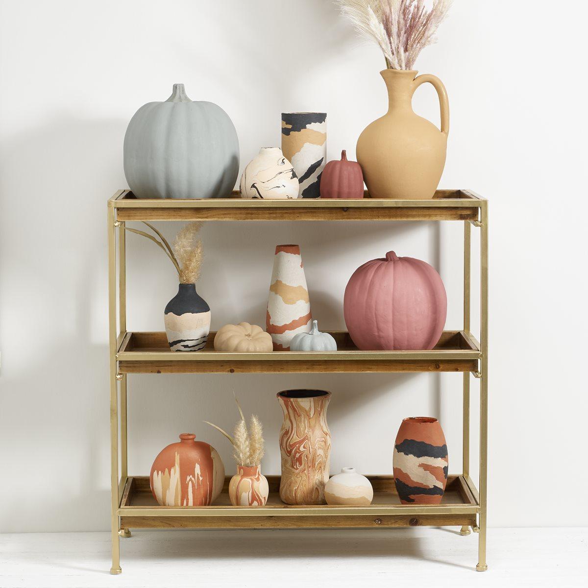 FolkArt Terra Cotta Poured Vases