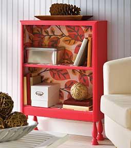 Mod Podge Repurposed Shelf