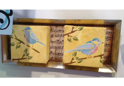 Singing Birds Canvas Art with FolkArt Paints