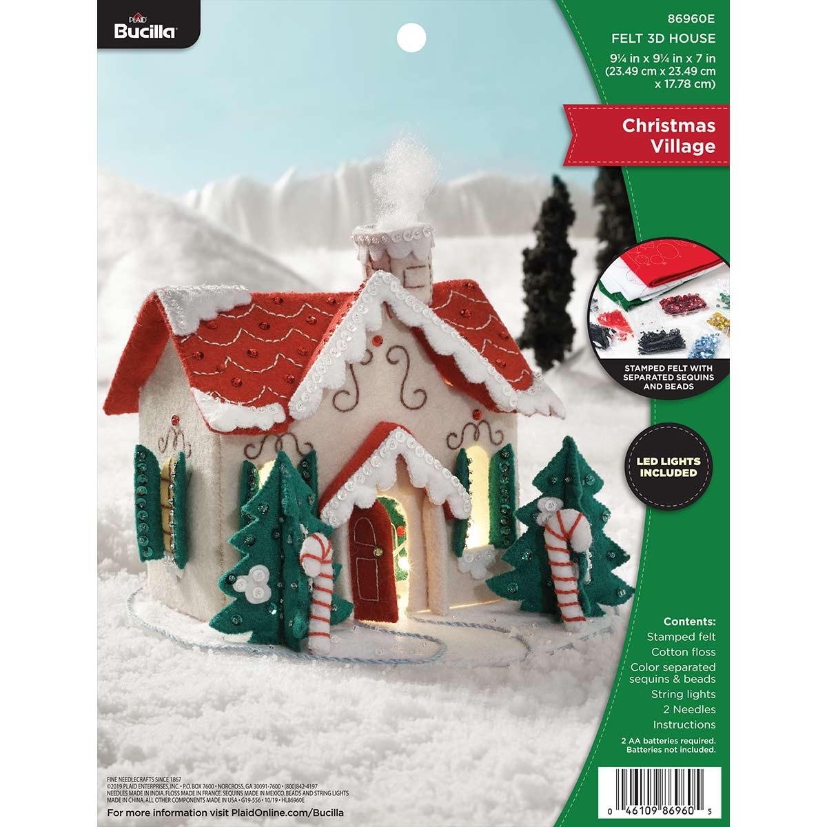 Bucilla ® Seasonal - Felt - Home Decor - Christmas Village 3D House - 86960E