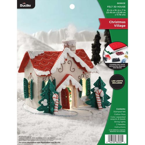 Bucilla ® Seasonal - Felt - Home Decor - Christmas Village 3D House - 86960E