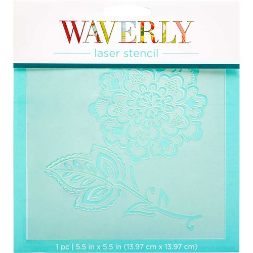 "Waverly ® Laser Stencils - Cherry Floral, 5.5"" x 5.5"""