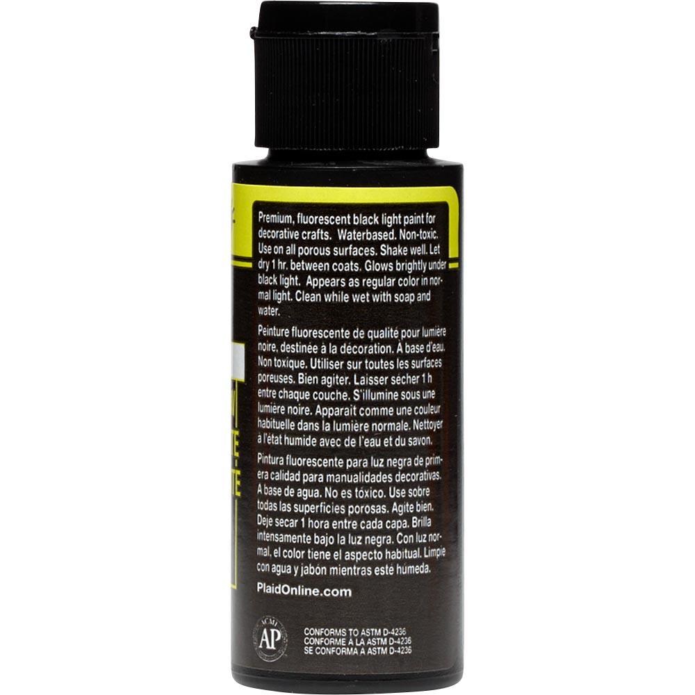 FolkArt ® Acrylic Colors - Fluorescent Glow - Yellow, 2 oz.