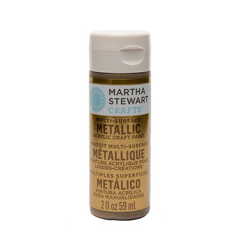 Martha Stewart ® Multi-Surface Metallic Acrylic Craft Paint - Brushed Bronze, 2 oz. - 33000CA