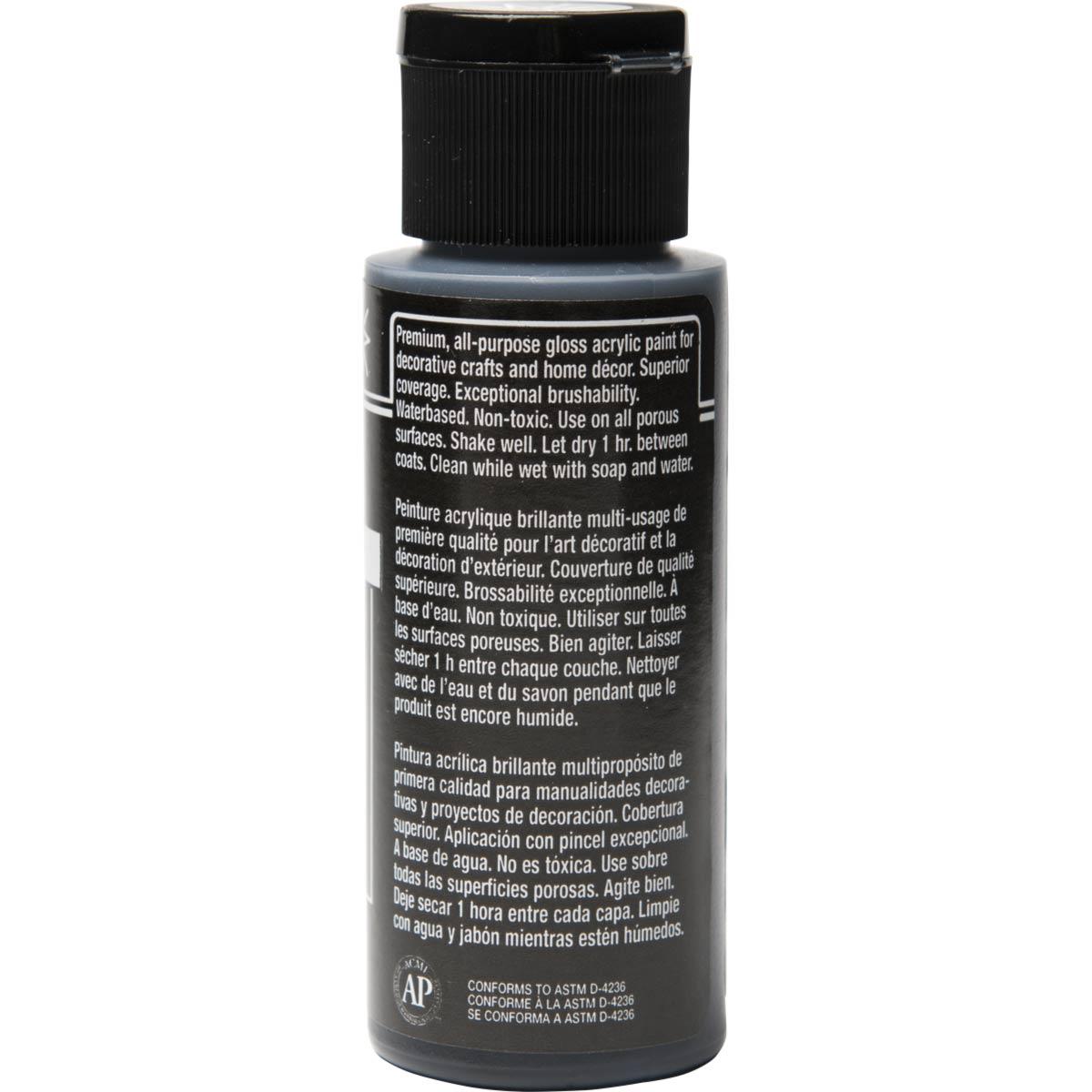 FolkArt ® Shiny™ Acrylic Paint - Licorice, 2 oz.