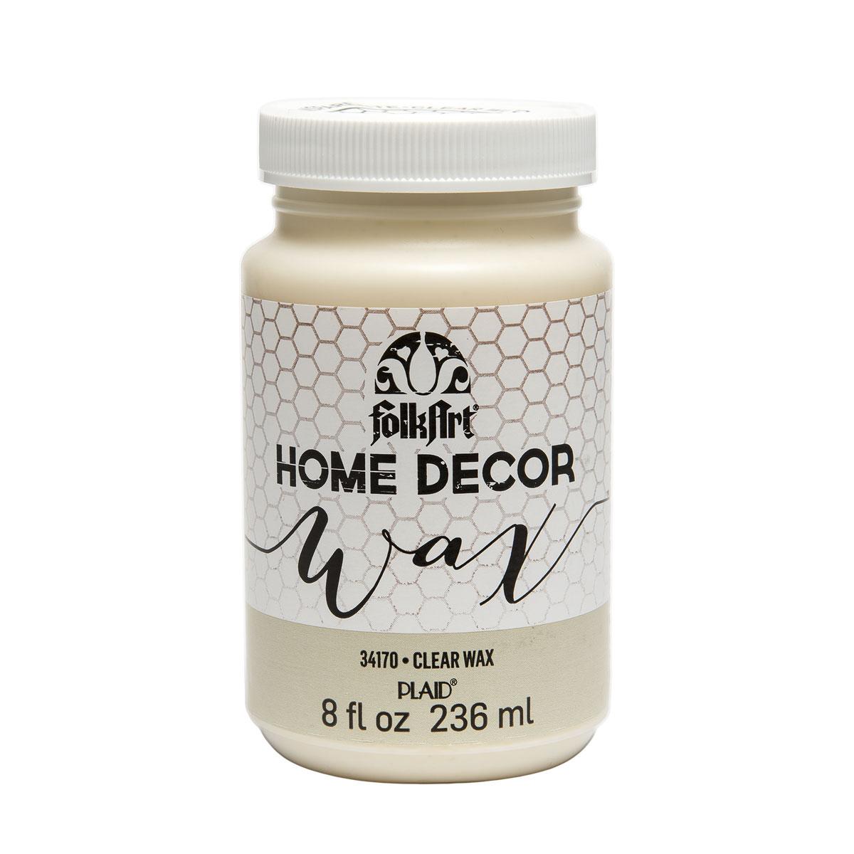 Shop plaid folkart home decor wax clear 8 oz for Decoration wax