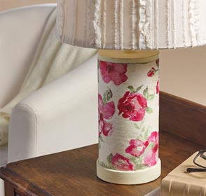 Vintage Lamp with Mod Podge and Napkins