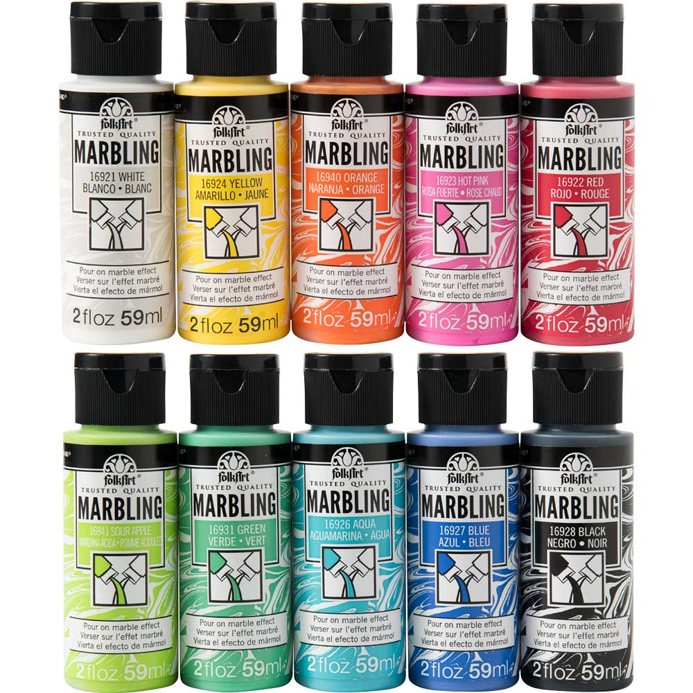 FolkArt ® Marbling Paint Set, 10 pieces