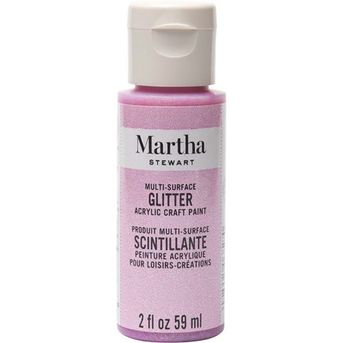 Martha Stewart ® Multi-Surface Glitter Acrylic Craft Paint - Bubble Gum, 2 oz. - 32151CA