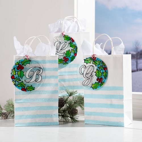 DIY Monogram Christmas Ornament & Gift Topper