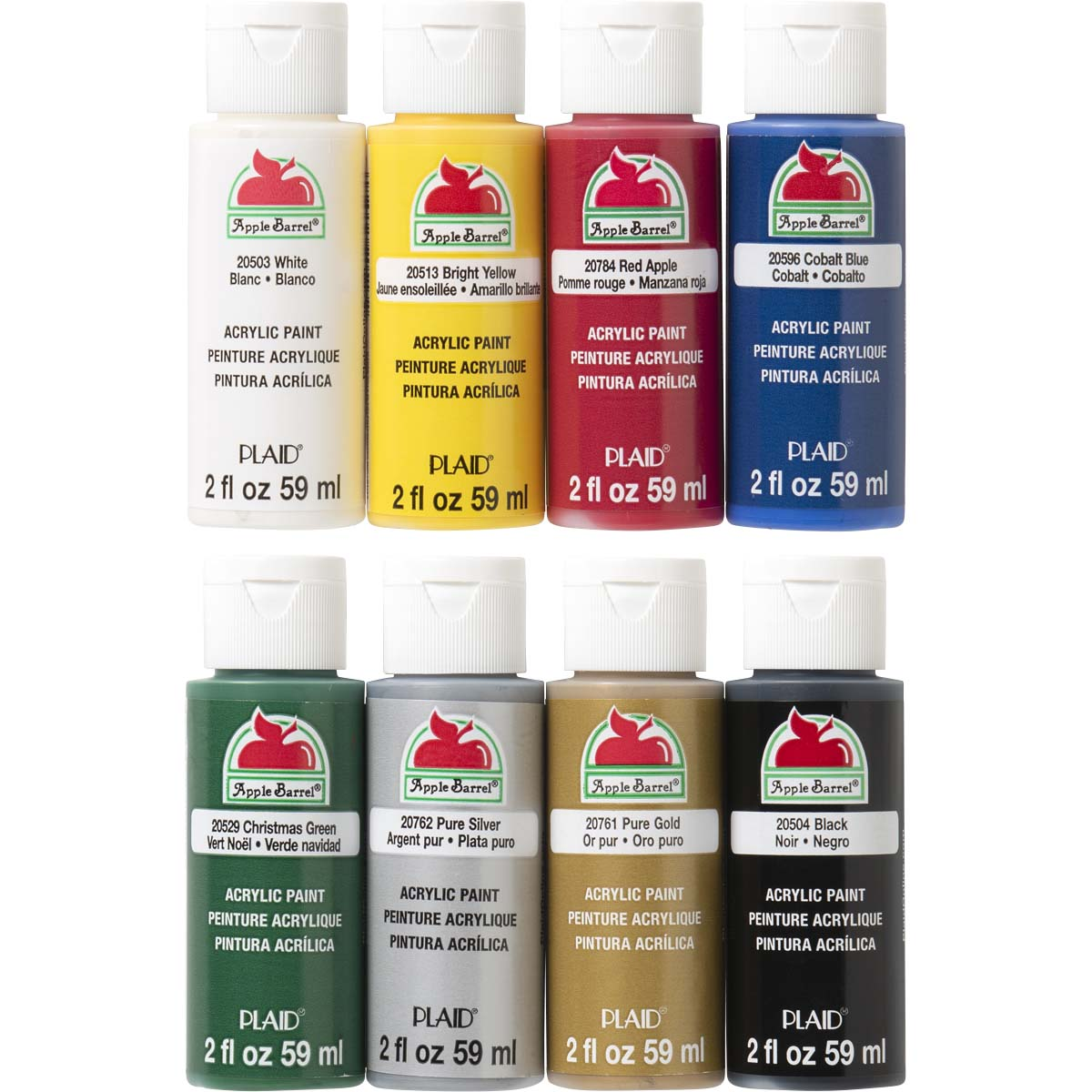 Apple Barrel ® Colors Acrylic Paint Top 8 Color Set - 17854