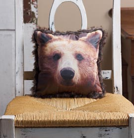 Bear Photo Transfer Pillow