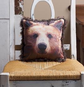 Bear Photo Transfer Pillow
