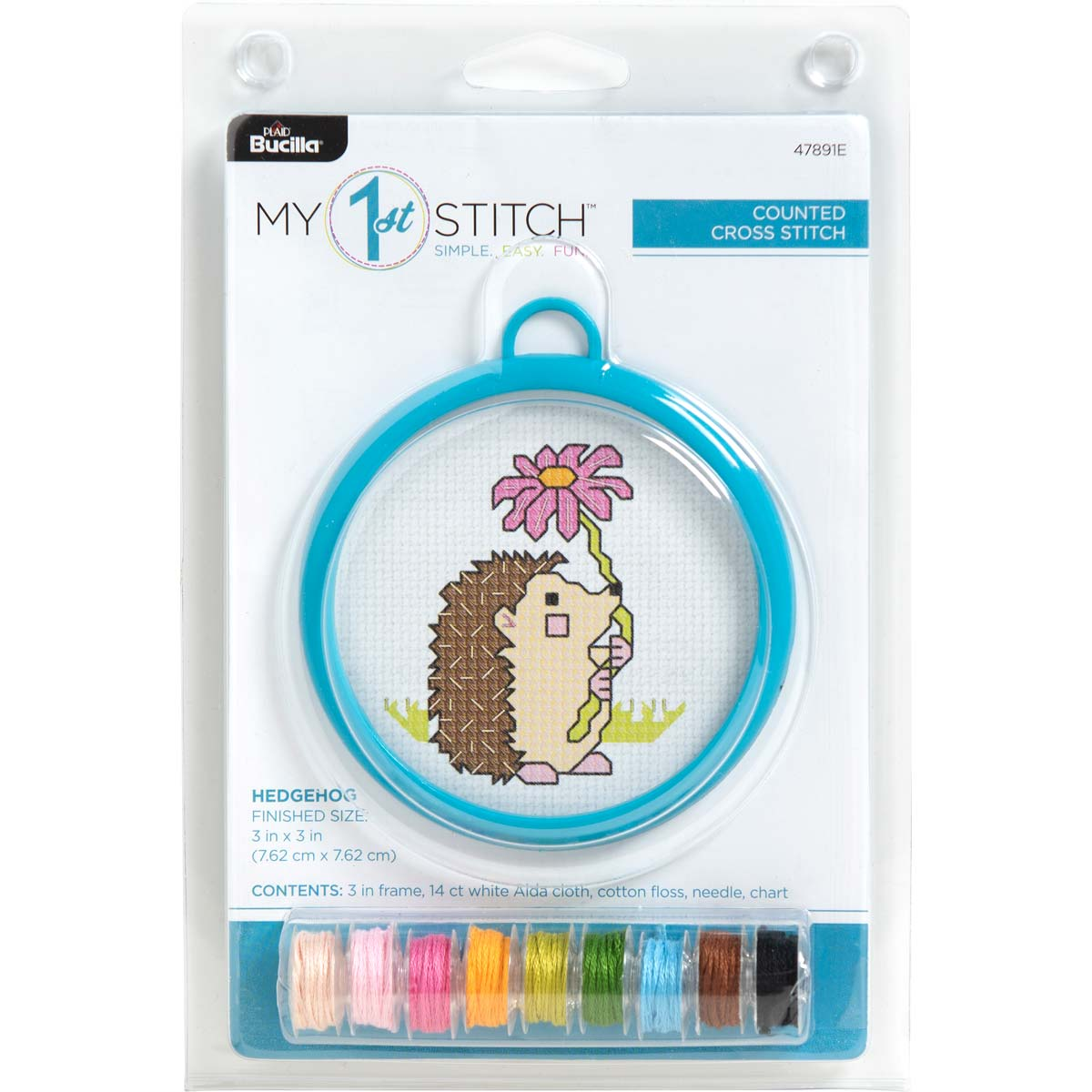 Bucilla ® My 1st Stitch™ - Counted Cross Stitch Kits - Mini - Hedgehog - 47891E