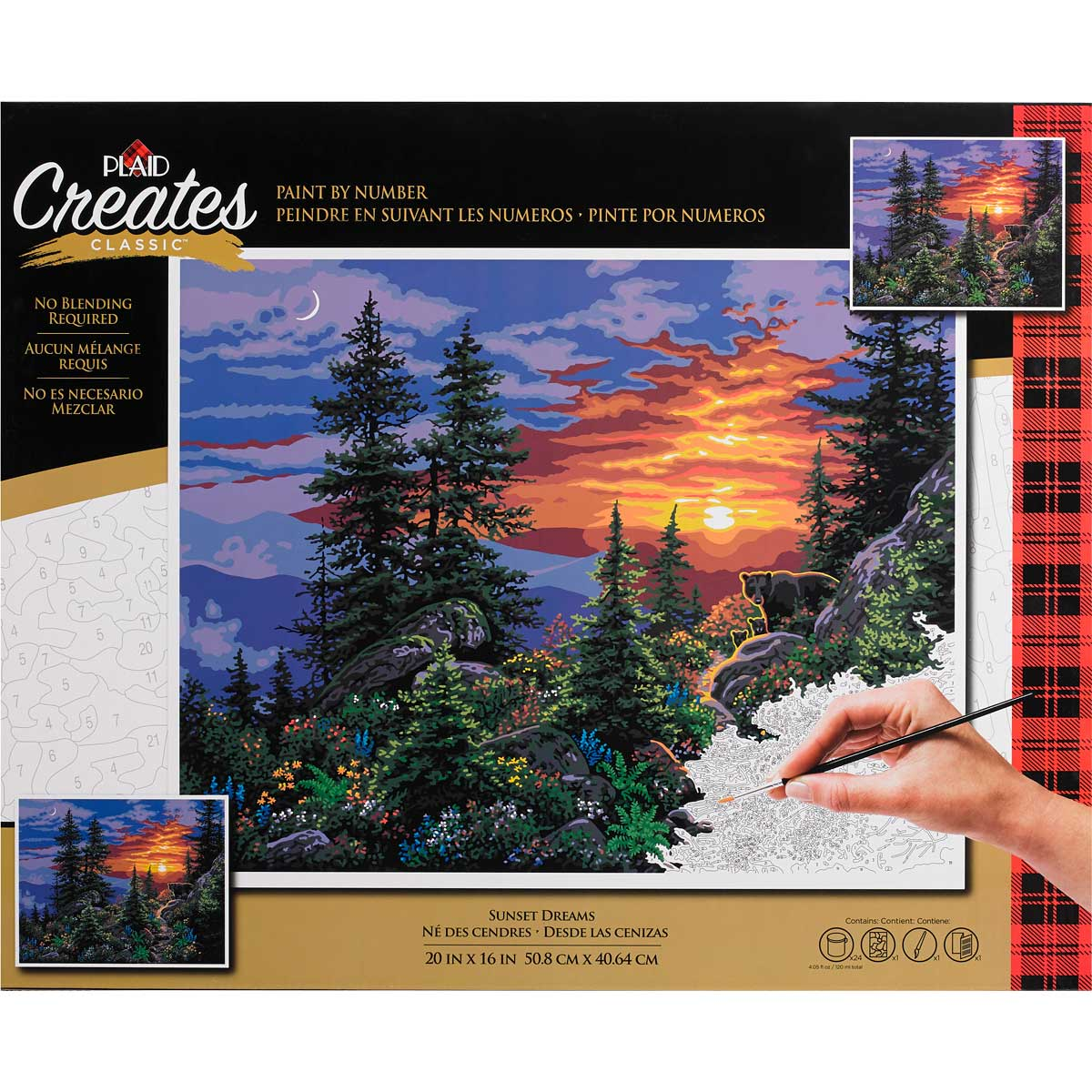 Plaid ® Paint by Number - Sunset Dreams