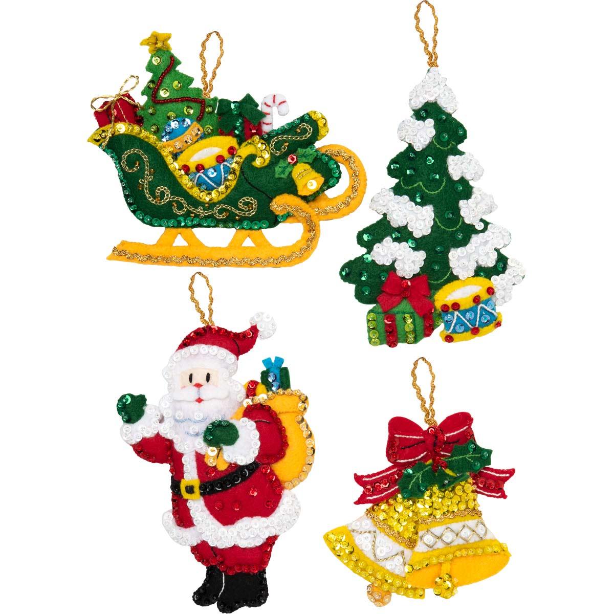 Bucilla ® Seasonal - Felt - Ornament Kits - Santa's Grand Sleigh - 89055E