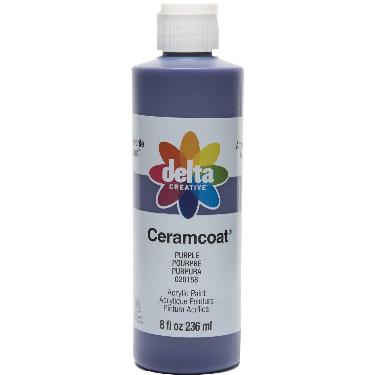 Delta Ceramcoat ® Acrylic Paint - Purple, 8 oz.