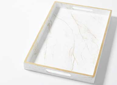 Marbleized Tray