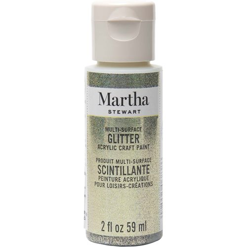 Martha Stewart ® Multi-Surface Glitter Acrylic Craft Paint - Antique Silver, 2 oz. - 32180CA
