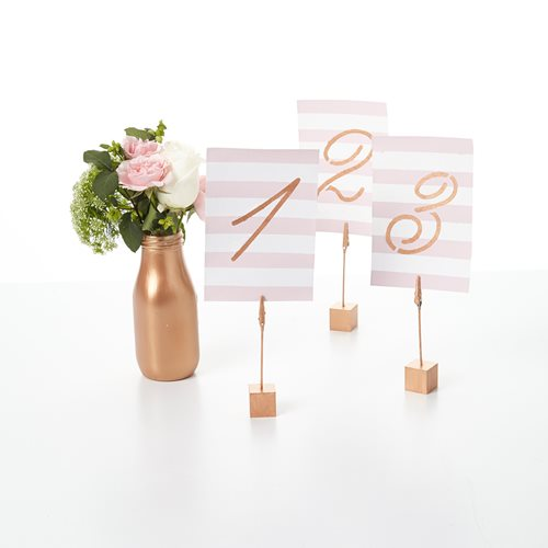 Painted Table Numbers and Stands