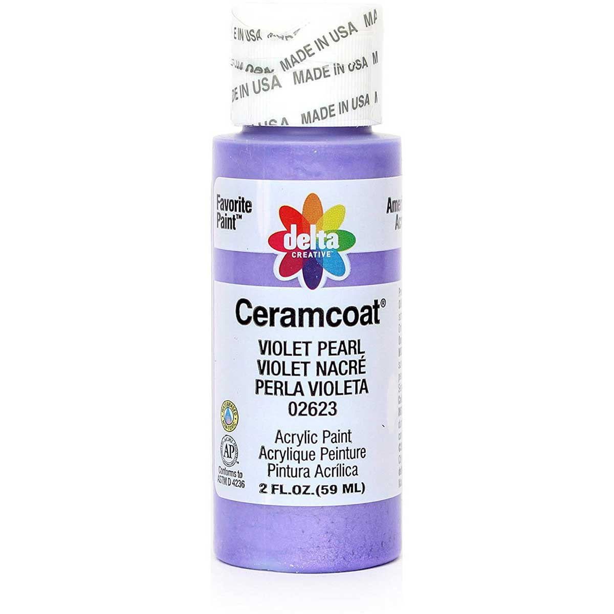 Delta Ceramcoat ® Acrylic Paint - Violet Pearl, 2 oz. - 026230202W