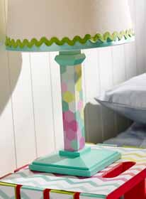 Mod Podged Lamp for Kids
