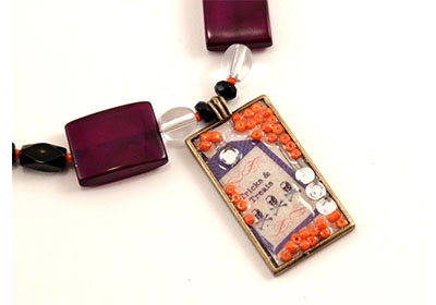 Mod Podge Tricks and Treats Halloween Necklace