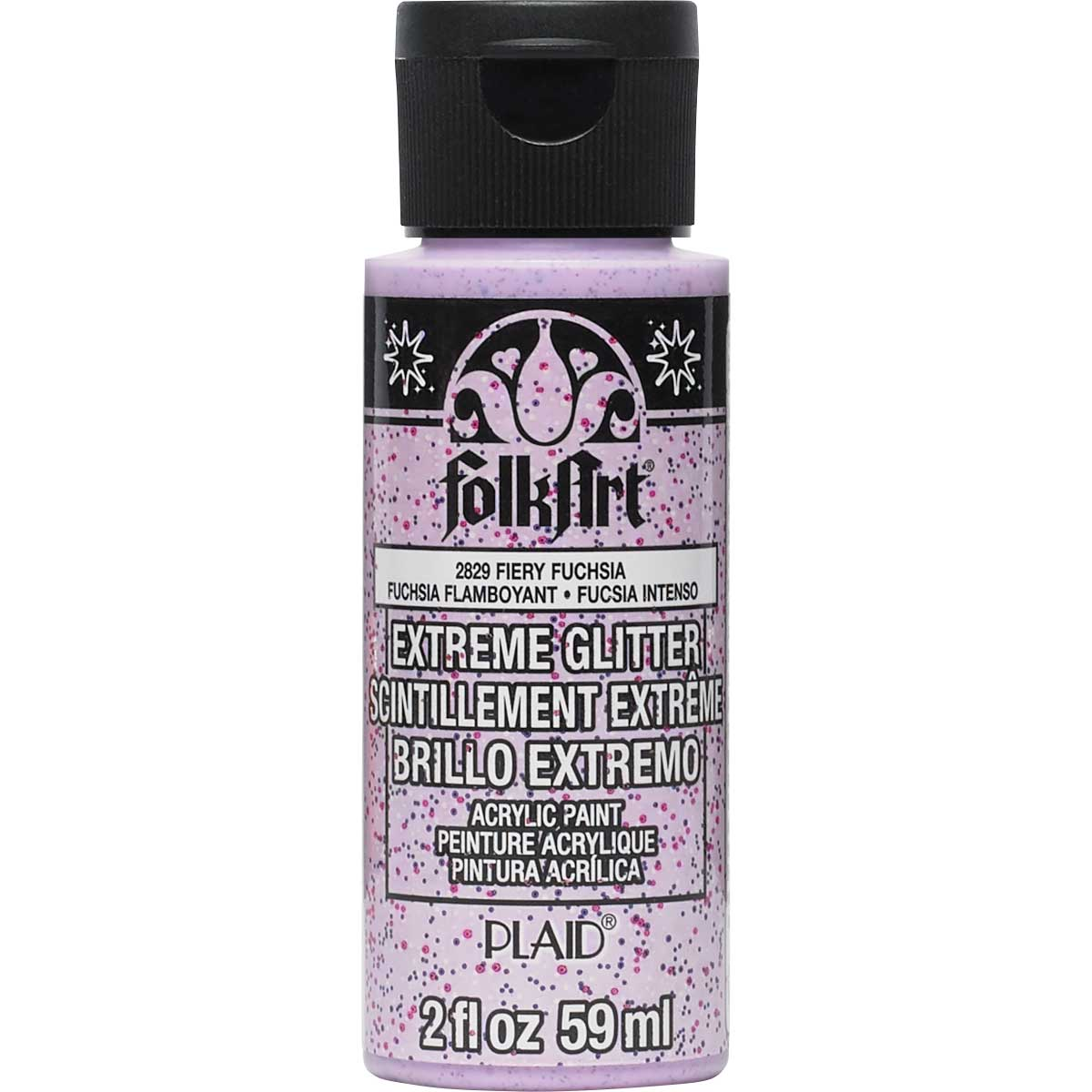 FolkArt ® Extreme Glitter™ - Fiery Fuchsia, 2 oz.