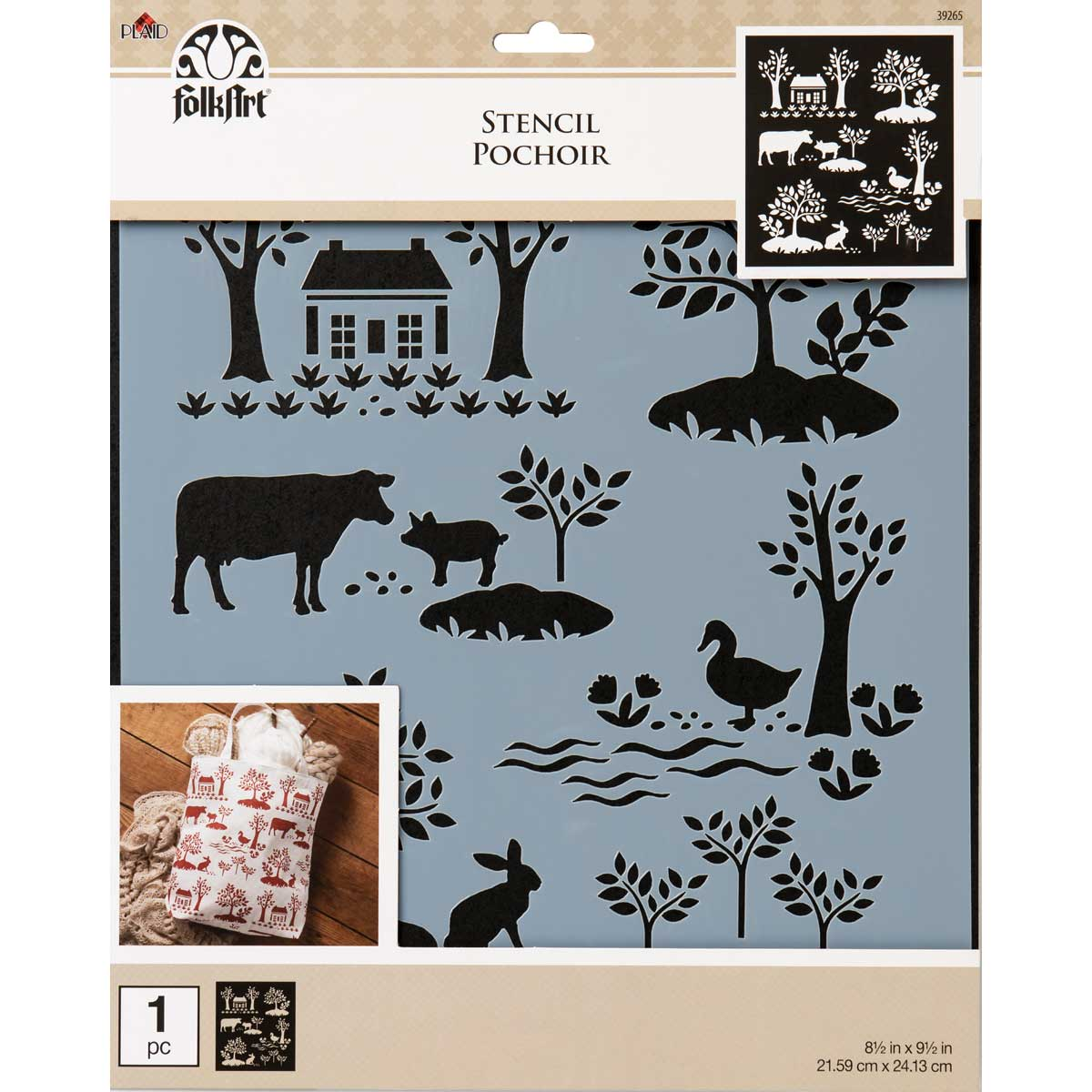 FolkArt ® Painting Stencils - Large - Modern Toile - 39265