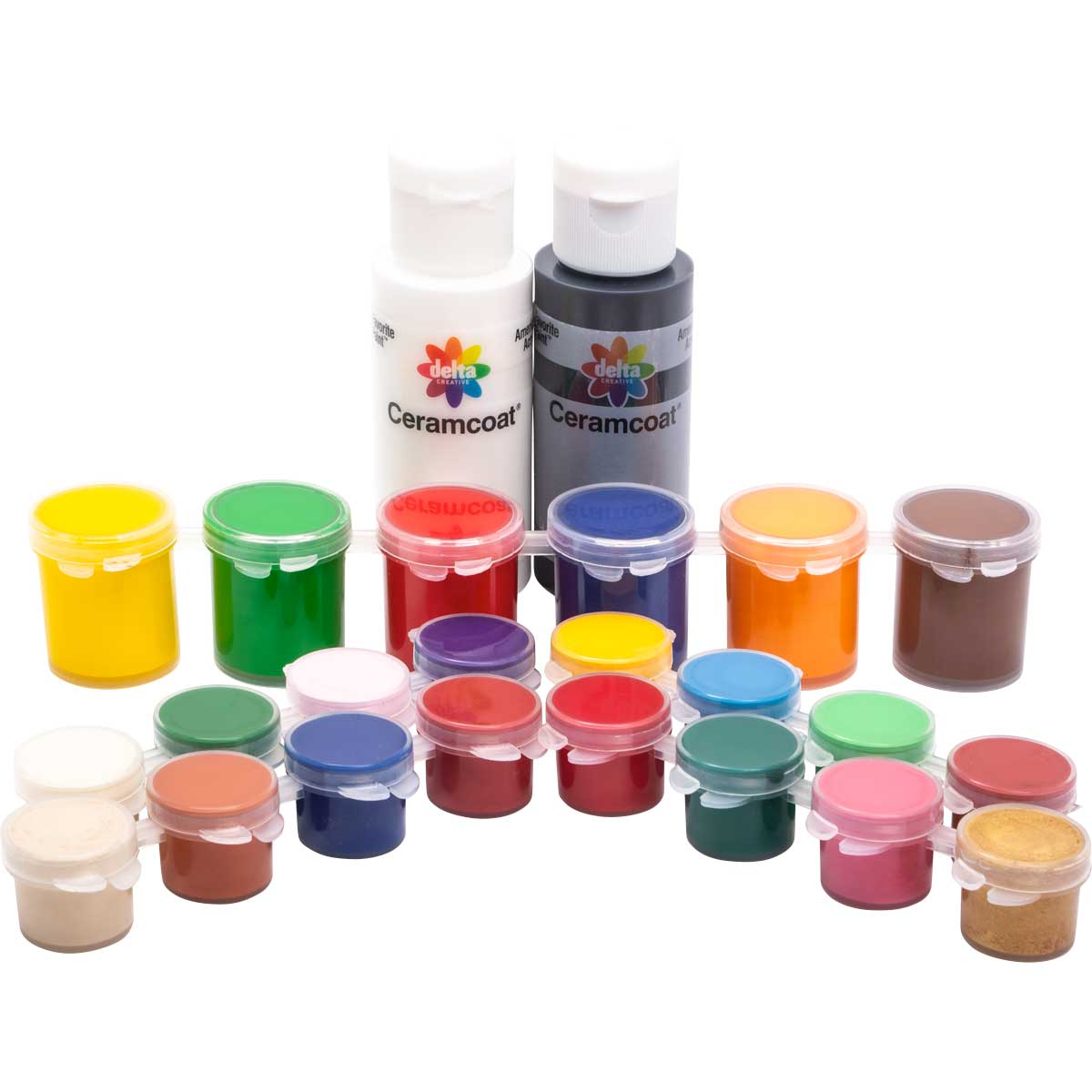 Delta Ceramcoat ® Paint Superpack Set - Basic, 24 Colors - 029400056