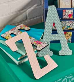 DIY Greek Wooden Letters