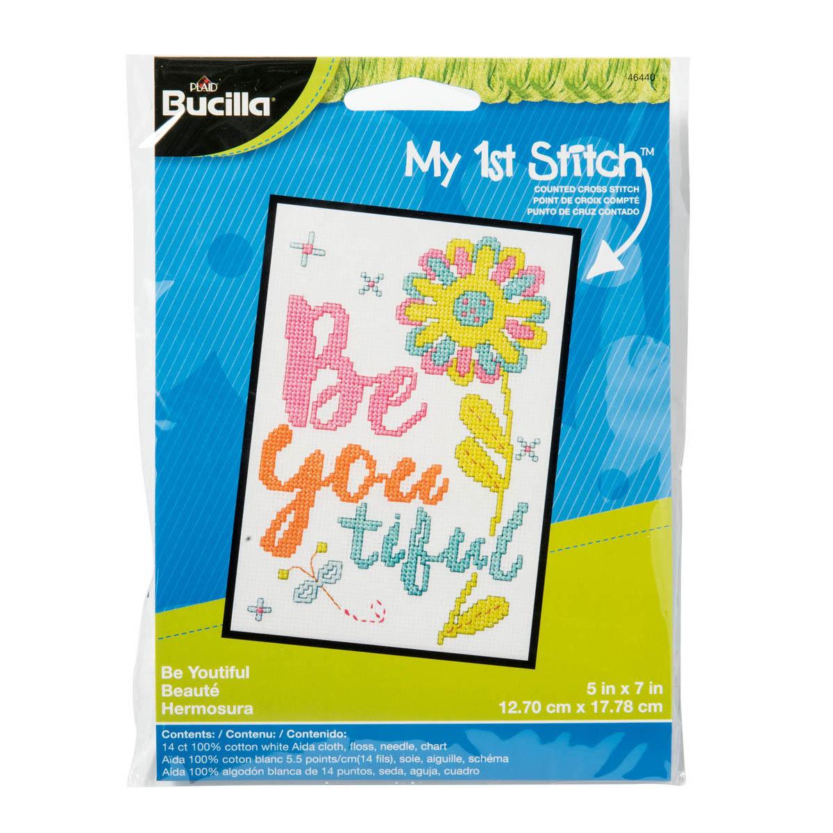 Bucilla ® My 1st Stitch™ - Counted Cross Stitch Kits - Beyoutiful