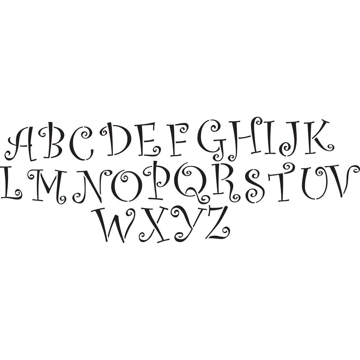 Delta Stencils - Alphabet - Squiggle