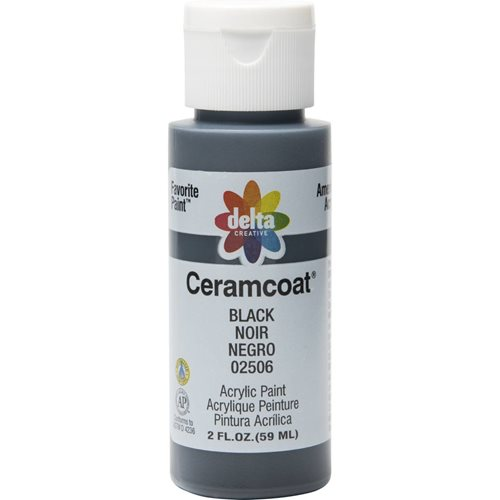 Delta Ceramcoat ® Acrylic Paint - Black, 2 oz. - 025060202W